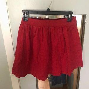 Forever 21 Red Mini Skirt, S